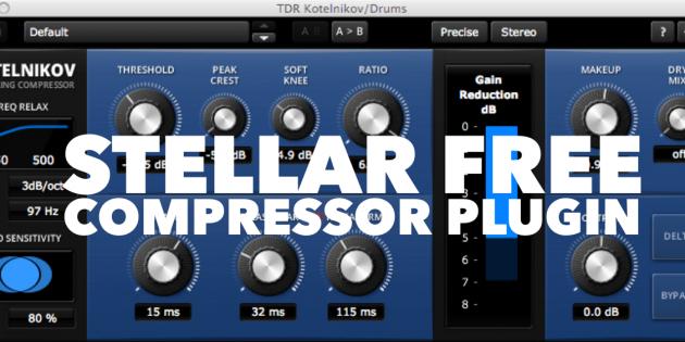 Stellar FREE Compressor Plugin - TDR Kotelnikov - SuperHeroSamples