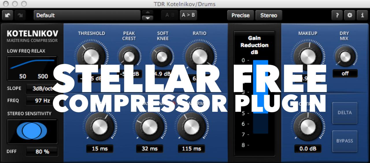 Stellar FREE VST/AU Plugin – Tokyo Dawn Labs Kotelnikov Compressor