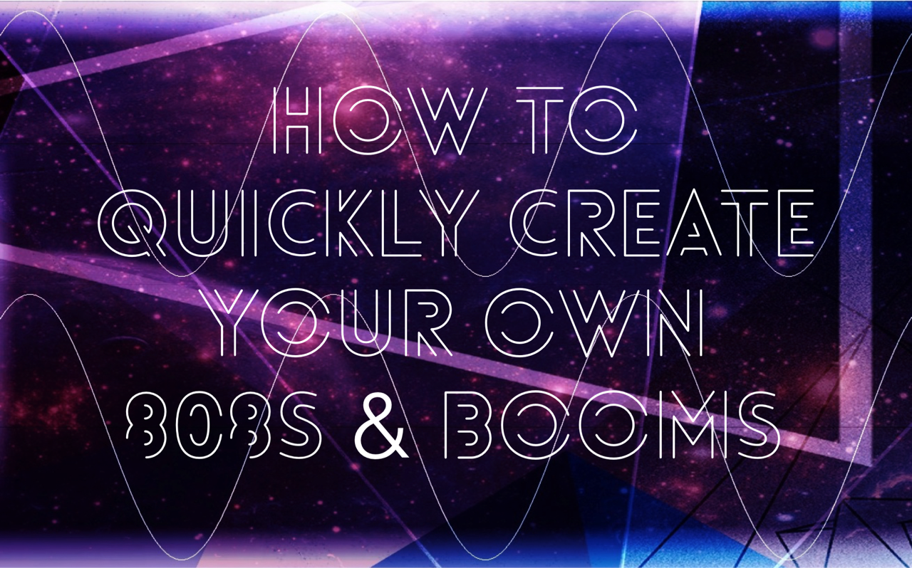 Create Your Own 808s and Booms - Super Hero Samples