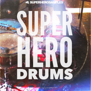 SUPER HERO DRUMS Vinyl Cover - superherosamples.com