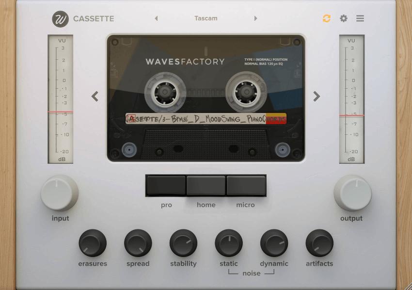 Wavesfactory Cassette GUI