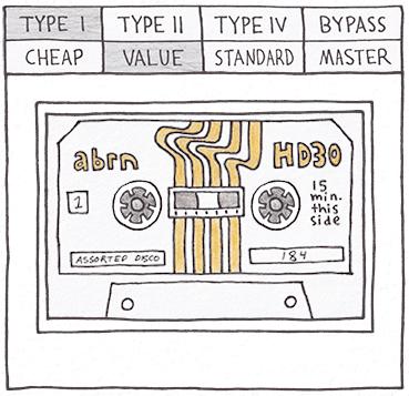 Sketch Cassette II Tape Styles
